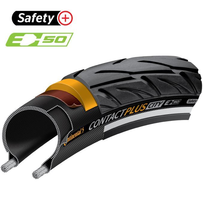Picture of CONTINENTAL CONTACT PLUS CITY WB 700x47C