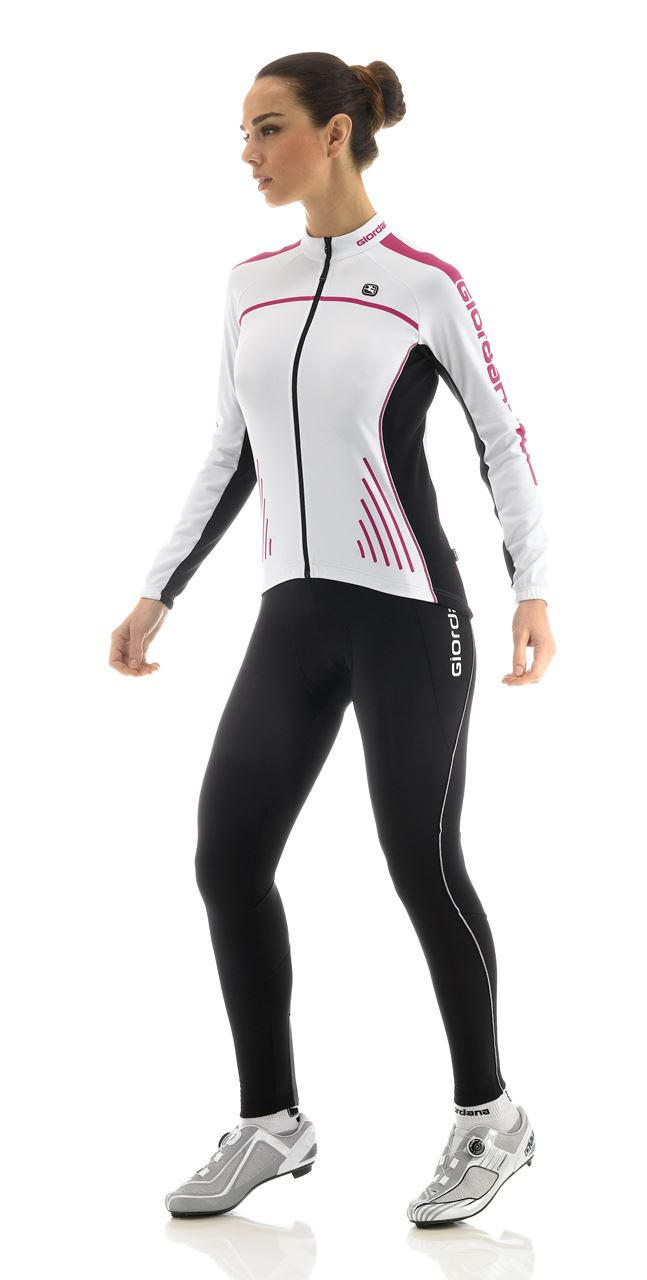Picture of GIORDANA SILVERLINE WOMENS WINTER JERSEY WHITE
