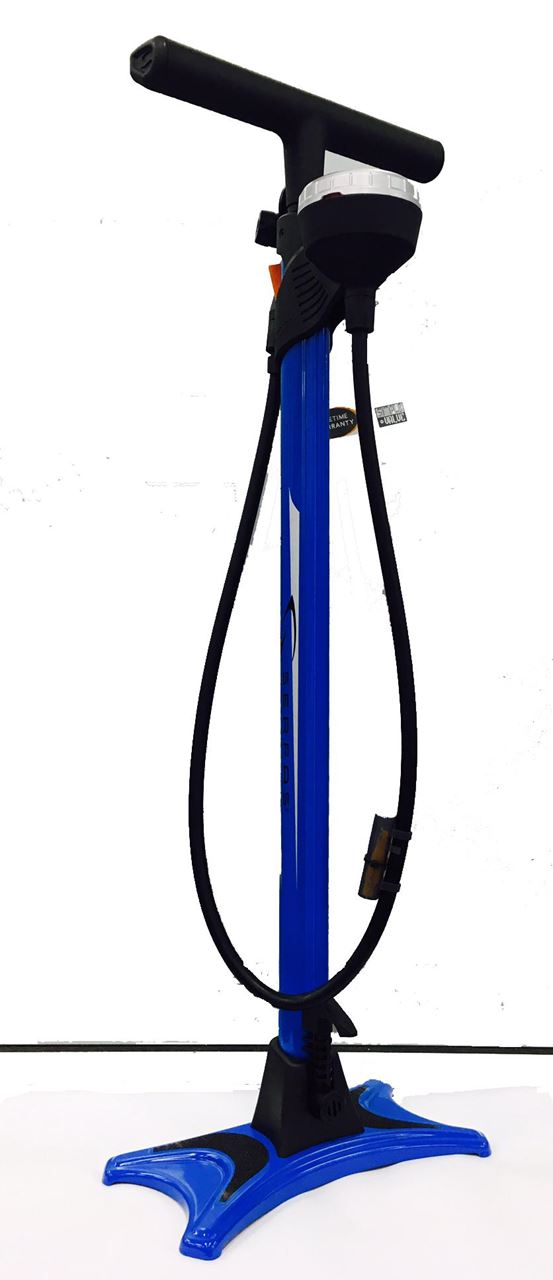 Picture of SERFAS BLUE FLOOR PUMP WITH GAUGE