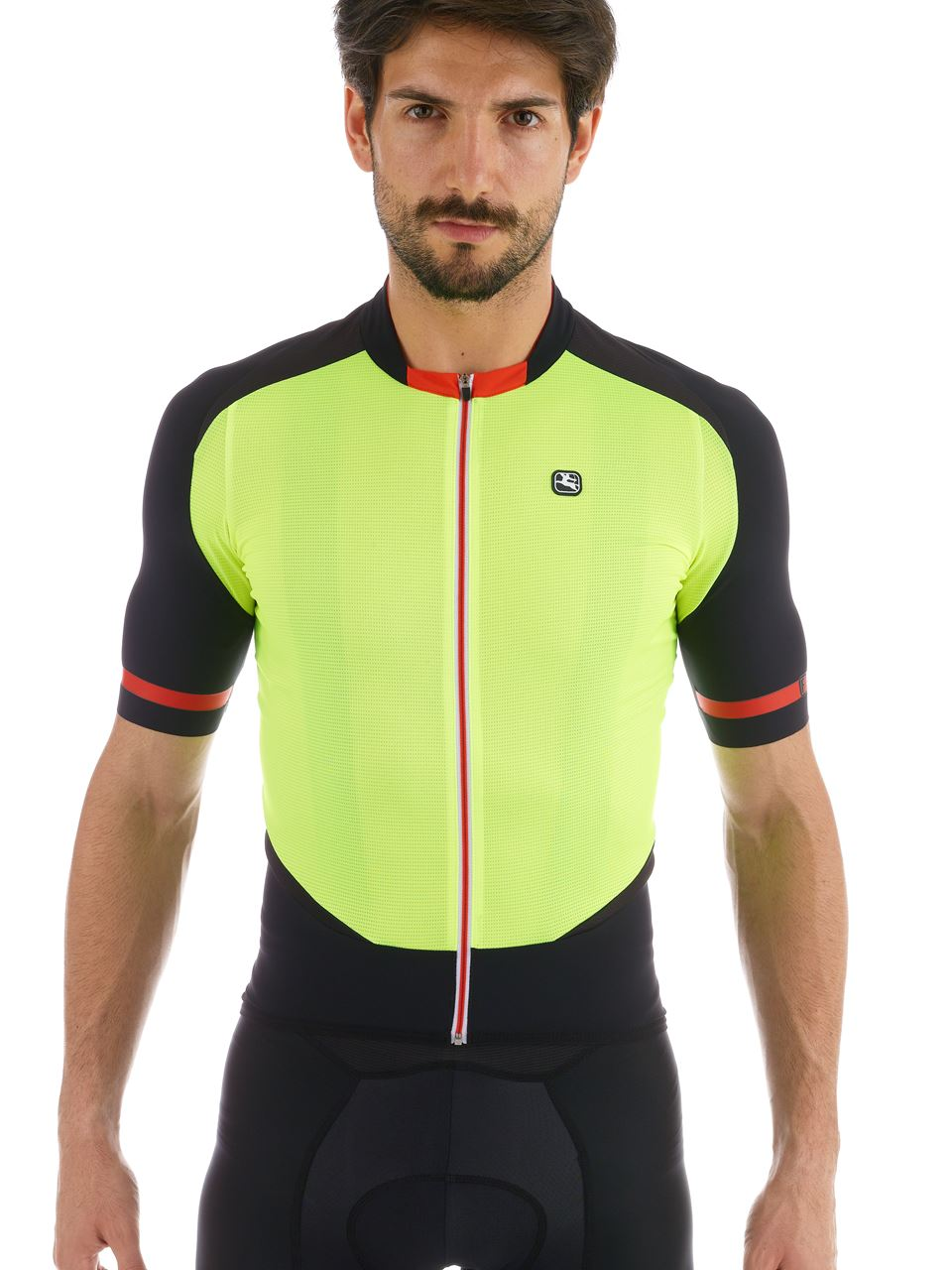 Picture of GIORDANA FRC JERSEY BLACK-FLUORO
