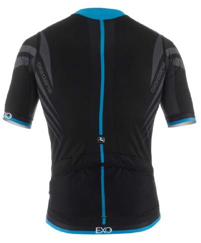 Picture of GIORDANA EXO JERSEY BLACK/CYAN