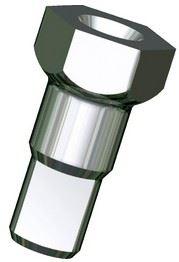 Picture of SAPIM NIPPLE HEXHD BRASS 14G-12MM (100)