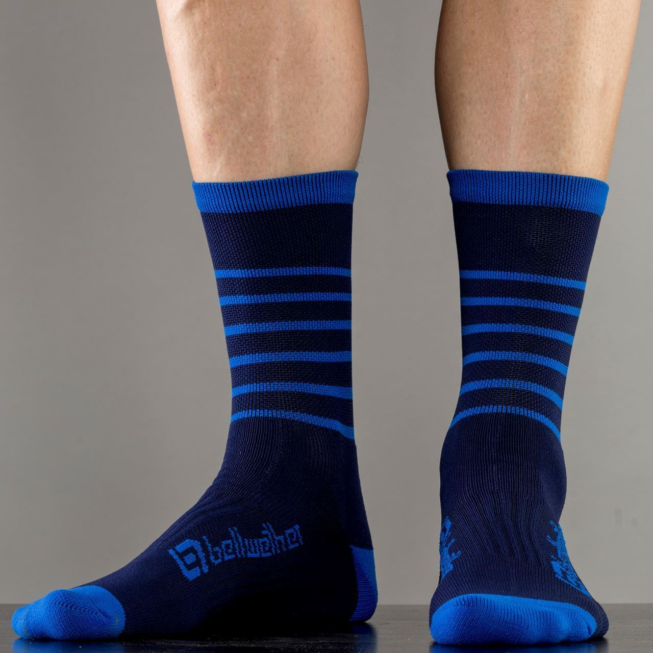 Picture of BELLWETHER BLITZ SOCK NAVY/CYAN