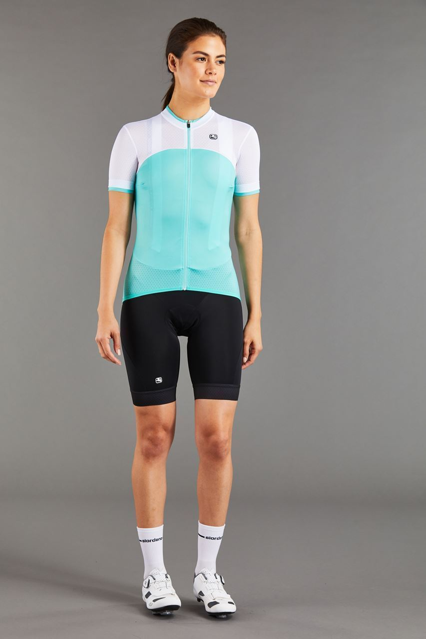 Picture of GIORDANA WOMENS SILVERLINE JERSEY MINT/WHITE